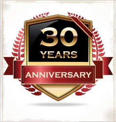 30 years anniversary golden label vector