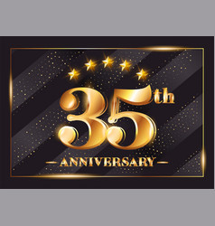 35 years anniversary celebration logo 35th vector image