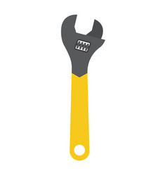 adjustable wrench flat icon build and repair vector image vector image