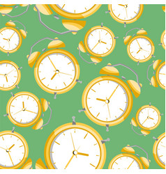 alarms clock pattern vector image