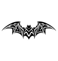 bat tattoo vintage engraving vector image