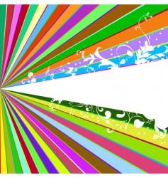 beams and tendrils vector image