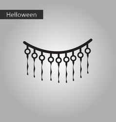 Black and white style icon halloween festivity vector