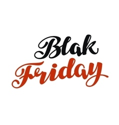 Black friday handmade lettering sale vector