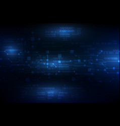 Blue future abstract technology background vector