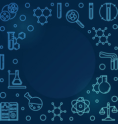 blue square chemistry vector image