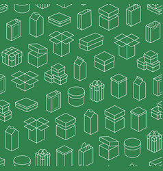 boxes seamless pattern background vector image