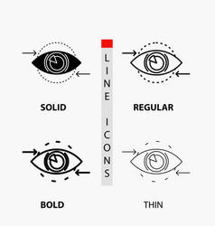 Business eye marketing vision plan icon in thin vector