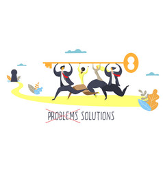 business solution concept for web banner vector image