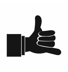 Call me gesture icon simple style vector