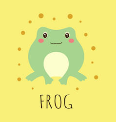 cartoon card with cute frog vector image