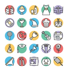 Celebration and Party Cool Icons 1 vector image