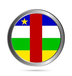 Central African Republic flag button vector image