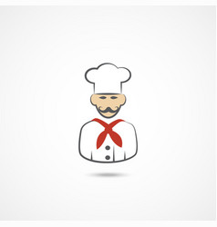 chef flat icon vector image