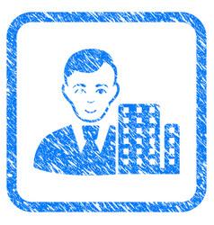 City architect framed stamp vector