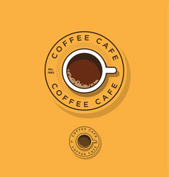 Coffee logo cup coffee vector