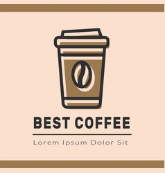 coffee logotype template vector image