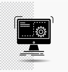 command computer function process progress glyph vector image