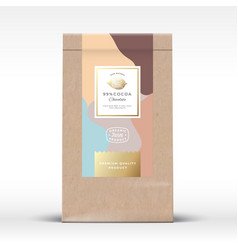 craft paper bag with cocoa chocolate label vector image