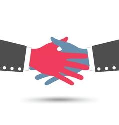 Creative Colorful Business Handshake vector