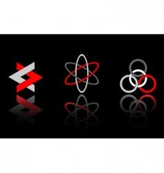 design elements on black vector image