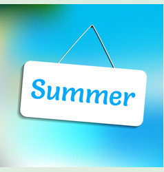 Door sign summer vector