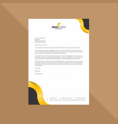 elegant black and gold letterhead vector image