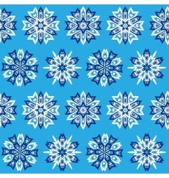 Ethnic blue seamless pattern vector