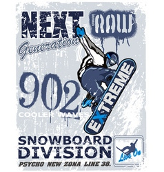 Extreme snow boarder Revise vector
