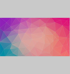 flat horizontal multicolor triangle background vector image