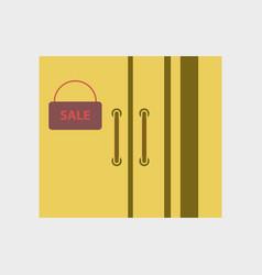 Flat icon of wardrobe sale black friday vector