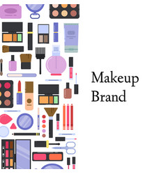 Flat style makeup and skincare background vector