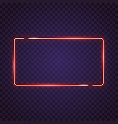 Frame neon sign vector