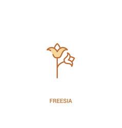 Freesia concept 2 colored icon simple line vector