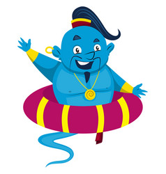 Genie in rubber on white background vector