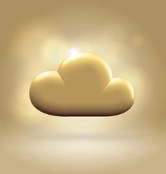 Golden cloud award vector image