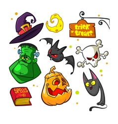 Halloween attributes3 vector image