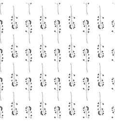 Hand drawn meadow grass seamless pattern vector image