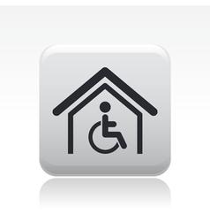handicap house icon vector image