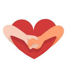 hands holding promise isolated on a white vector image