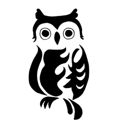 High quality owl for coloring or tattoo isolated vector image