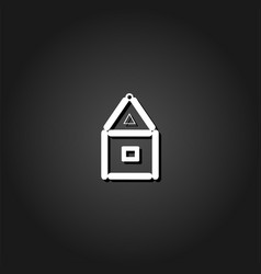 house of paper cards icon flat vector image