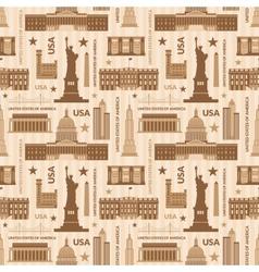 Landmarks of United States of America seamless vector image