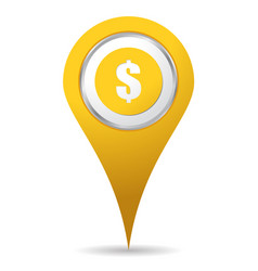 location money icon vector image