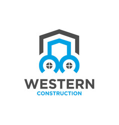 logo outline modern residential house vector image