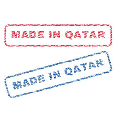 Made in qatar textile stamps vector