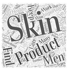 Men skin care Word Cloud Concept vector