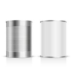 Metal tin set vector