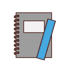 notebook school with rule vector image