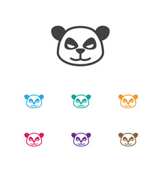 Of zoo symbol on panda icon vector
